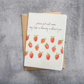 BS - Greeting Card Strawberries (GC0050)