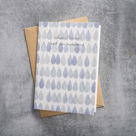 BS - Greeting Card Raindrops (GC0039)