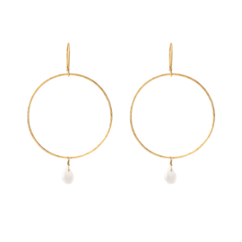 BS - Embrace Moonstone Gold Plated Earrings (AW24291)
