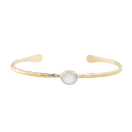 BS - Moonlight Moonstone Gold Plated Bracelet (AW24229)