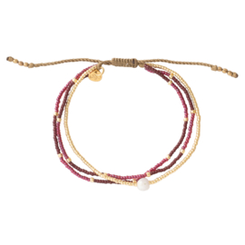 BS - Party Moonstone Gold Plated Bracelet (BL26109)