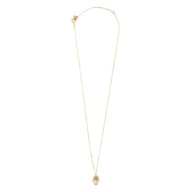 BS - Delicate Hamsa Silver Gold Plated Necklace (AW24394)