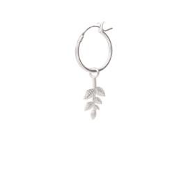 BS - Branch Silver Hoop Earring (ES1019)