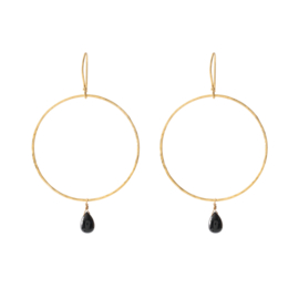 BS - Embrace Black Onyx Gold Plated Earrings (AW24391)