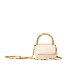 LD - Handbag Beige Tortu Leather