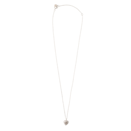 BS - Delicate Heart Silver Necklace (AW24694)