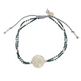 BS - Glitter Labradorite Silver Plated Bracelet (BL26407)