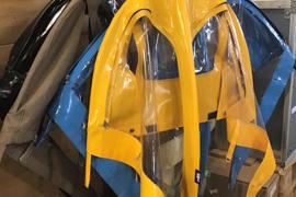Clarijs regenhuif voor de Bakfiets.nl Cargobike Long
