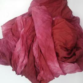 Zijden sjaal roze 90x200
