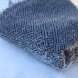 omslag doek  2 kleurig grijs  extra breed