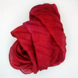 zijden sjaal donkerrozerood 90x90 B
