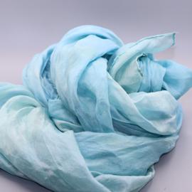 Zijden sjaal blauw 90x200