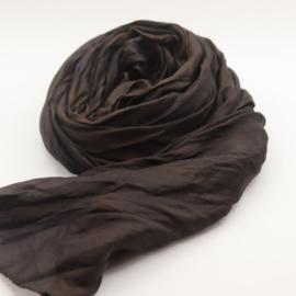 Zijden sjaal donker roze  90x90