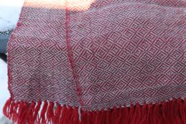 omslag doek  rood en grijs