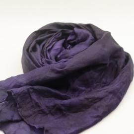 Zijden sjaal paars 90x90