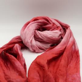Zijden sjaal paars/roze 45x180