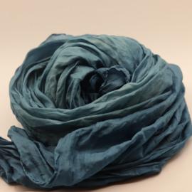 Zijden sjaal azure blauw   90x200