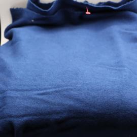 blauwe  wollen stof 150x230