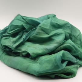 Zijden sjaal  zeegroen l 90x90