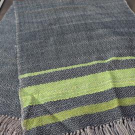 omslag doek grijs, blauw en groen
