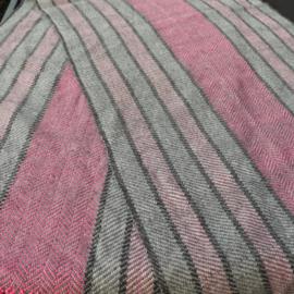 omslag doek grijs en roze