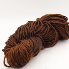Viltwol 1/1  donker bruin