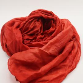 Zijden sjaal rood 90x90