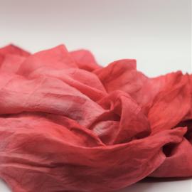 Zijden sjaal lichtroze/roze gemêleerd  90x90