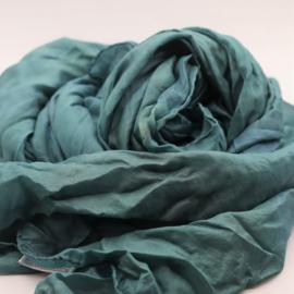 Zijden sjaal  licht turquoise    90x200
