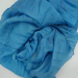 Zijden sjaal blauw 90x90