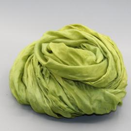 Zijden sjaal groen 45x180