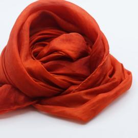 Zijden sjaal roodoranje 90x90