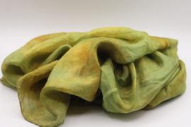 Zijden sjaal lichtgroenbruin 90x90