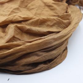 Zijden sjaal bruin 90x200