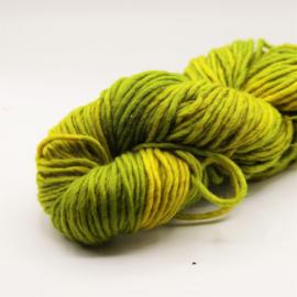 Viltwol 1/1 geel groen gemêleerd