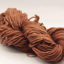 Viltwol 1/1  bruin/rood gemêleerd