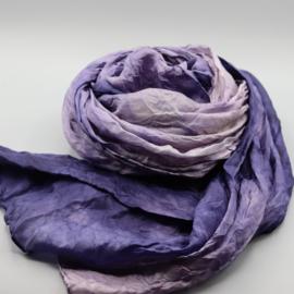 Zijden sjaal paars 45x180