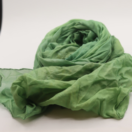 Zijden sjaal oranje/zalm 45x180