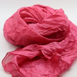 Zijden sjaal roze  90x90