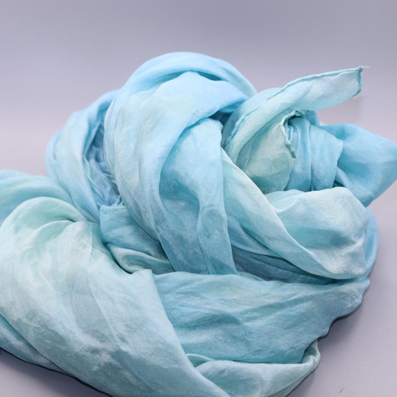 Zijden sjaal blauw 90x200 b keuze