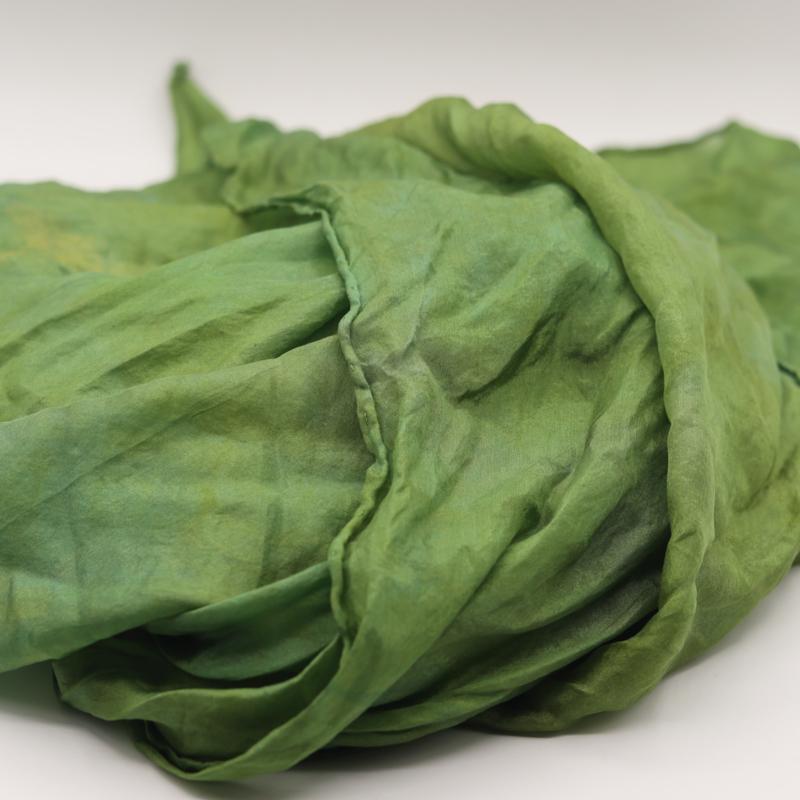 Zijden sjaal groen 90x90
