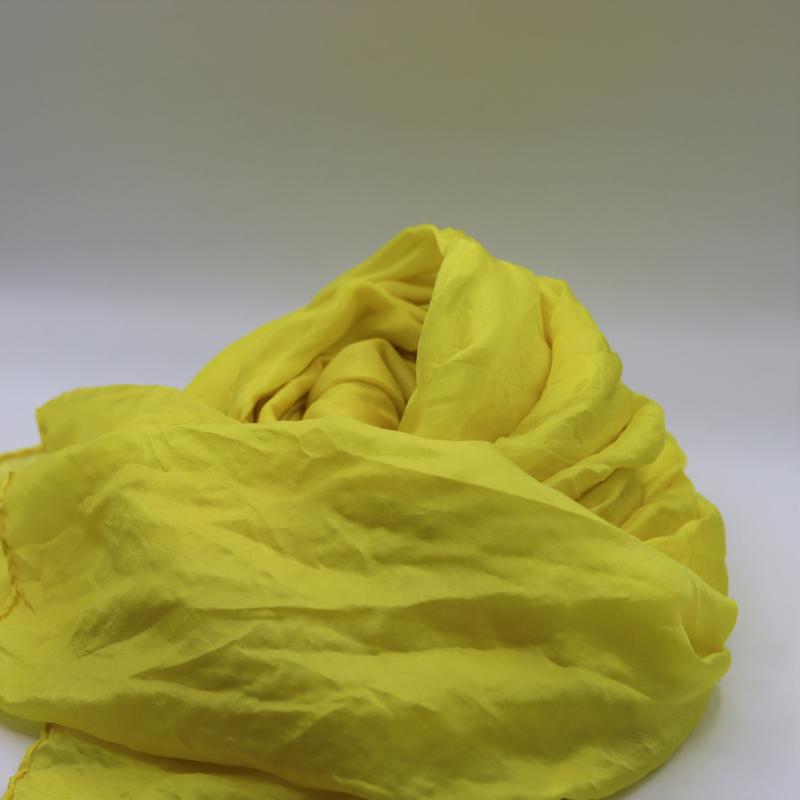 zijden sjaal geel 45x180