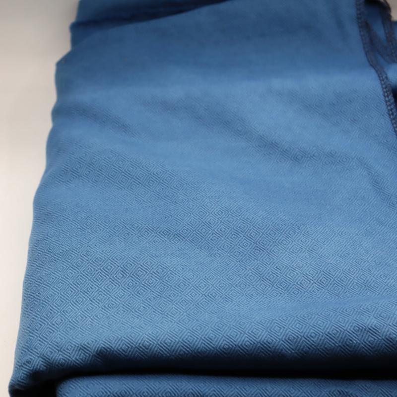 babyblauwe  diamantkeper wollen stof 150x195