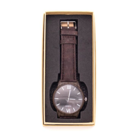 Horloge 'Chocolade bruin'
