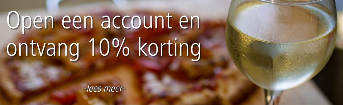 10% korting account