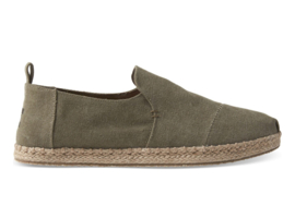 Toms olive washed canvas