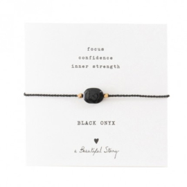 A beautiful story Black onyx armband