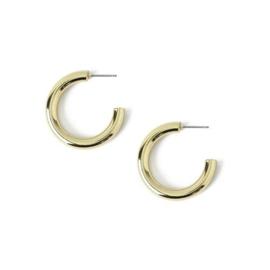 Orelia clean chunky hoop earrings gold
