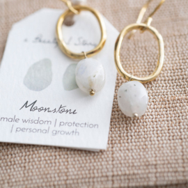 A beautiful story oorbel Moonstone gold