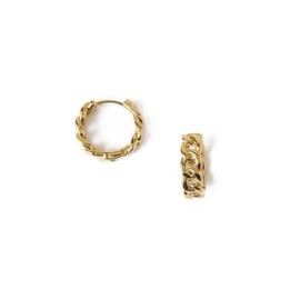 Orelia mini chain huggie hoops